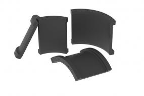 Резинотехнические изделия : Резиновые вкладыши седлового подшипника экскаваторов ЭКГ-8, ЭКГ-12